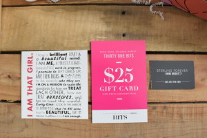 31 Bits gift card [$25] Sterling Forever gift card [$30]