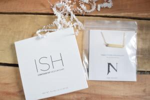 ISH contour kit Jook & Nona tag necklace