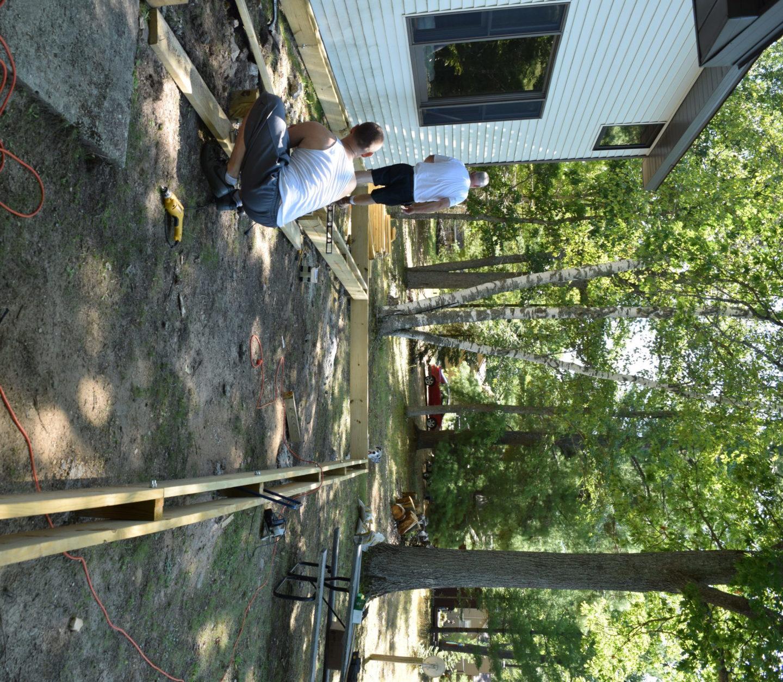 new deck being built