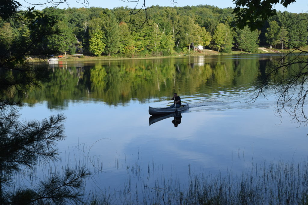 canoe ride on the lake